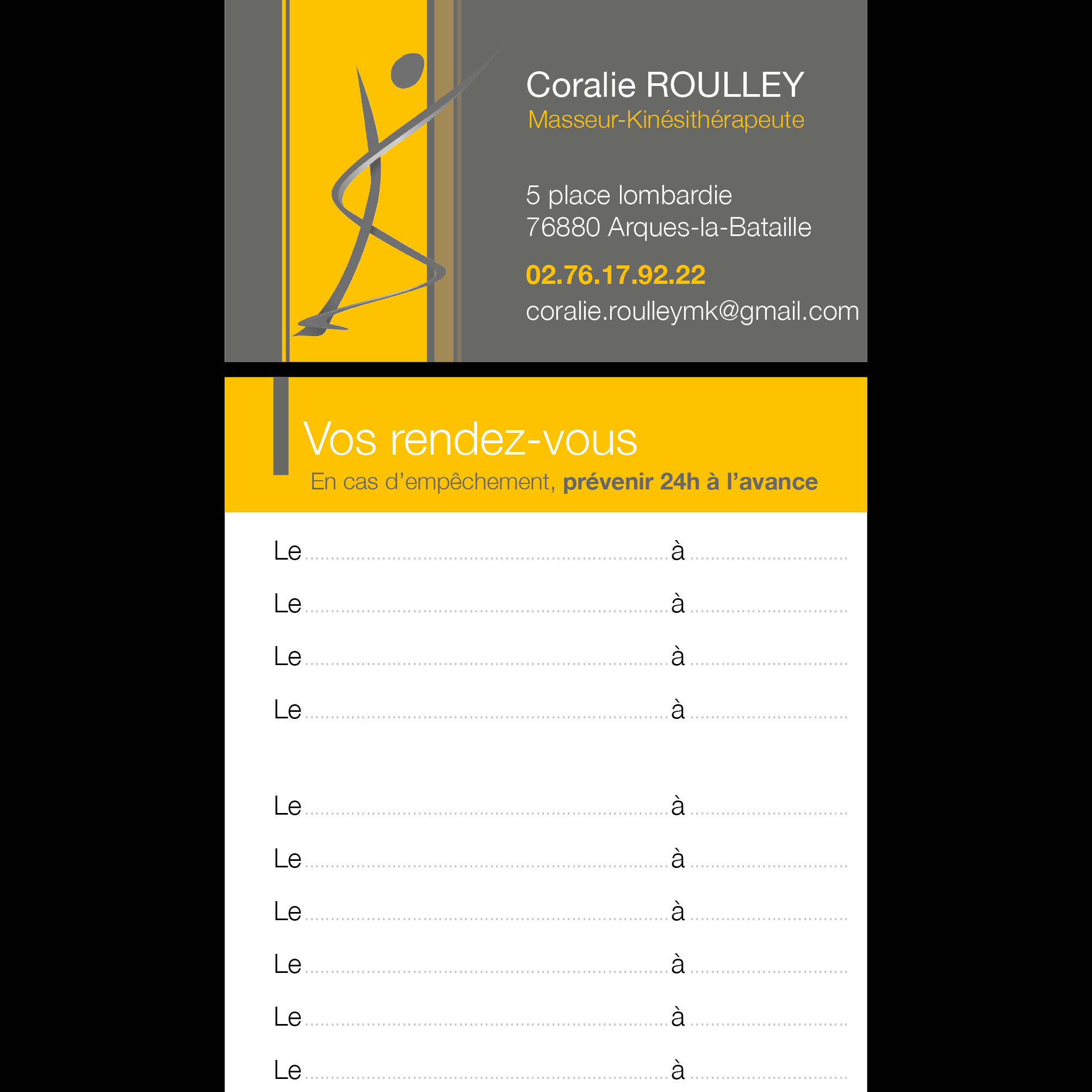 Coralie ROULLEY - Carte de RV