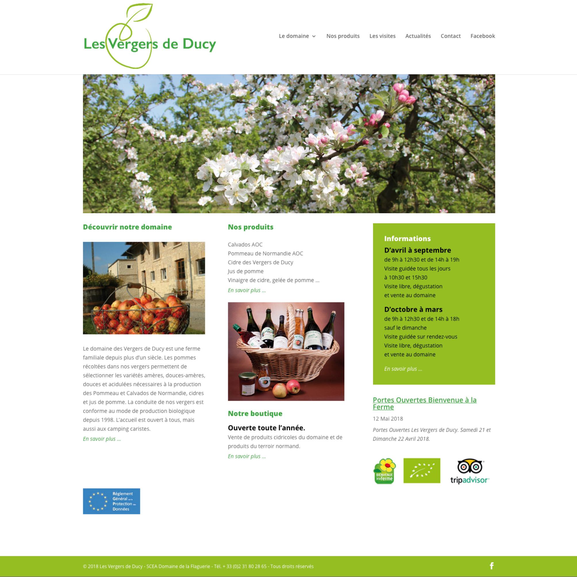 Les Vergers de Ducy - Site Web