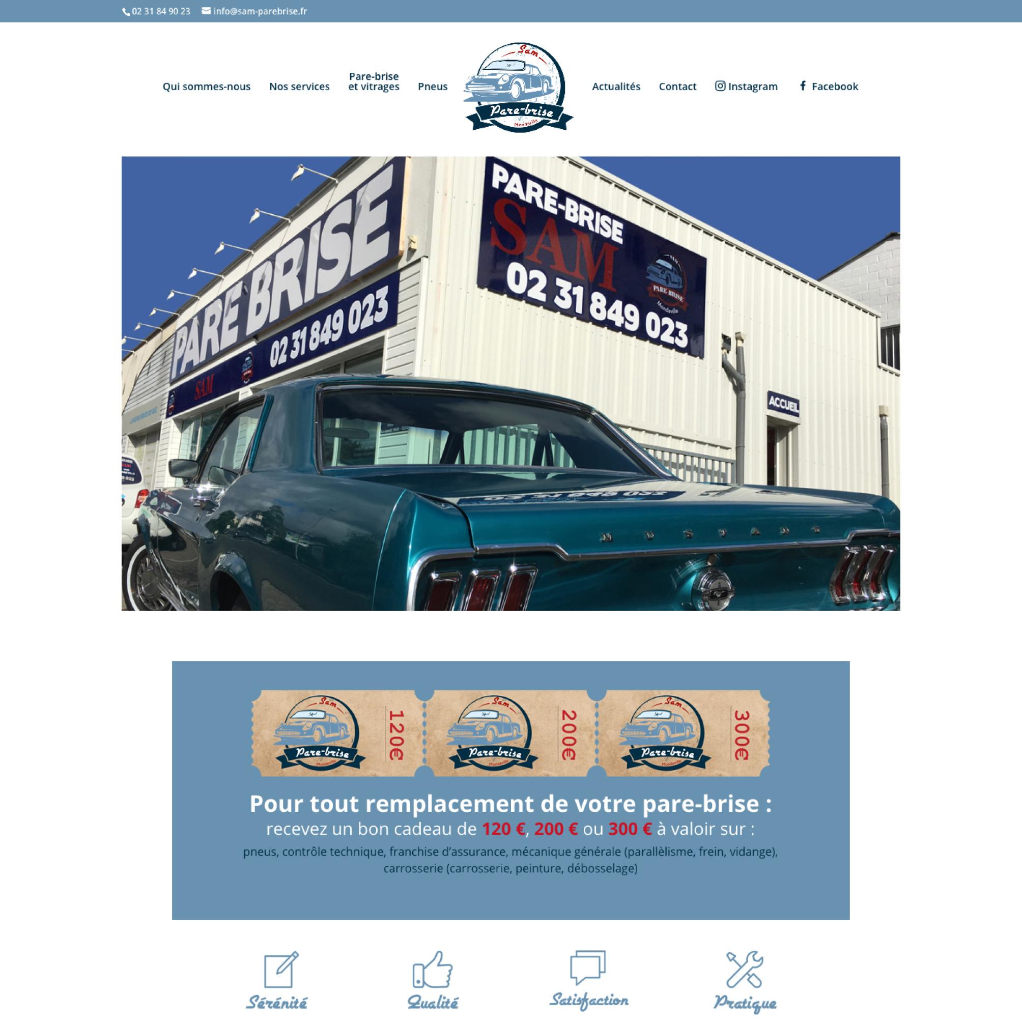 Sam Pare-brise - Site Web