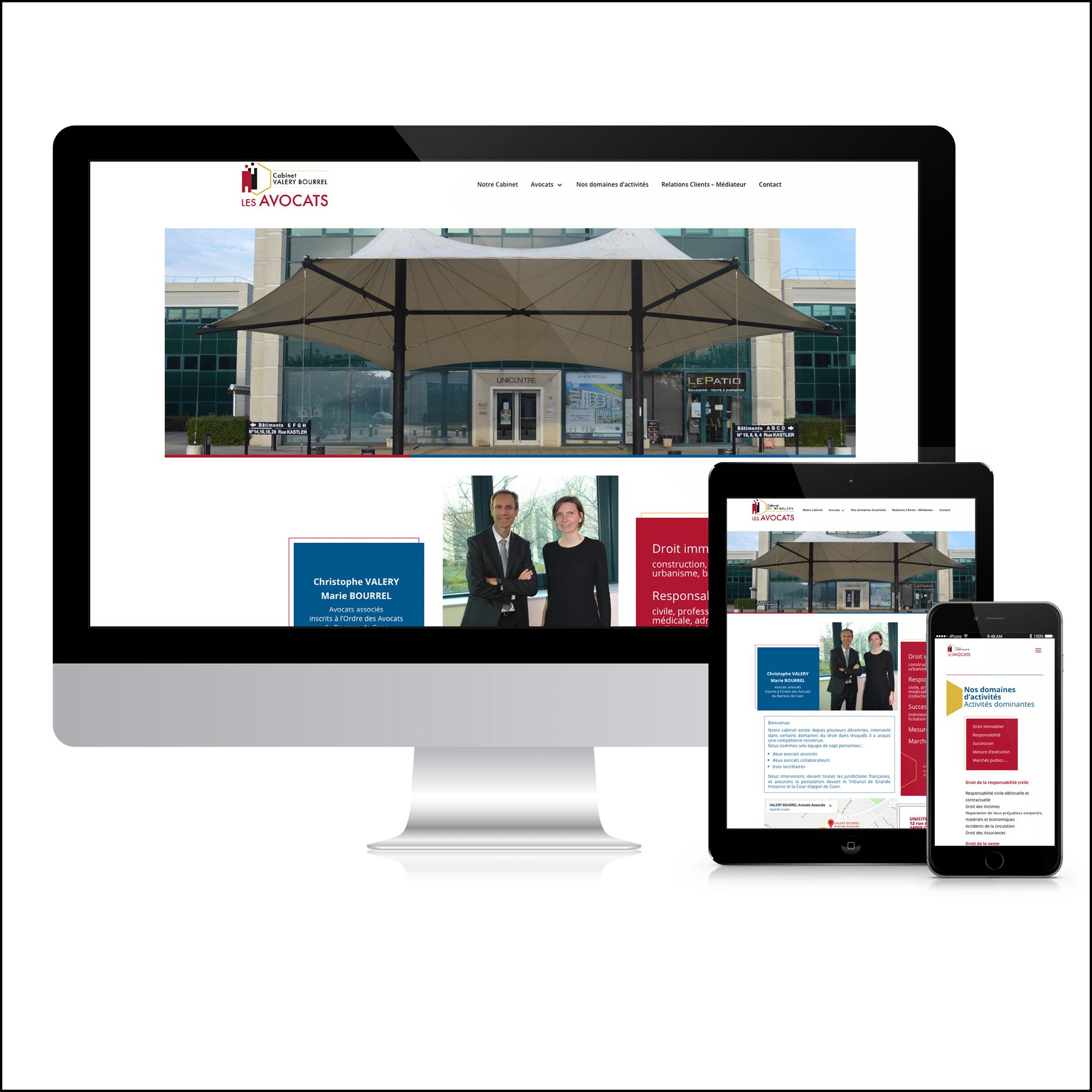 Cabinet Valery - Bourrel - Site Web