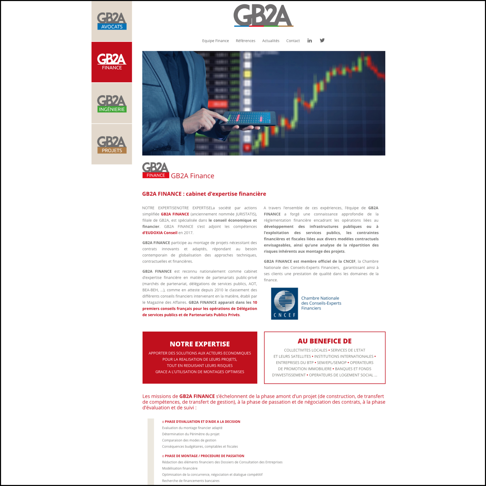 GB2A - Site Web