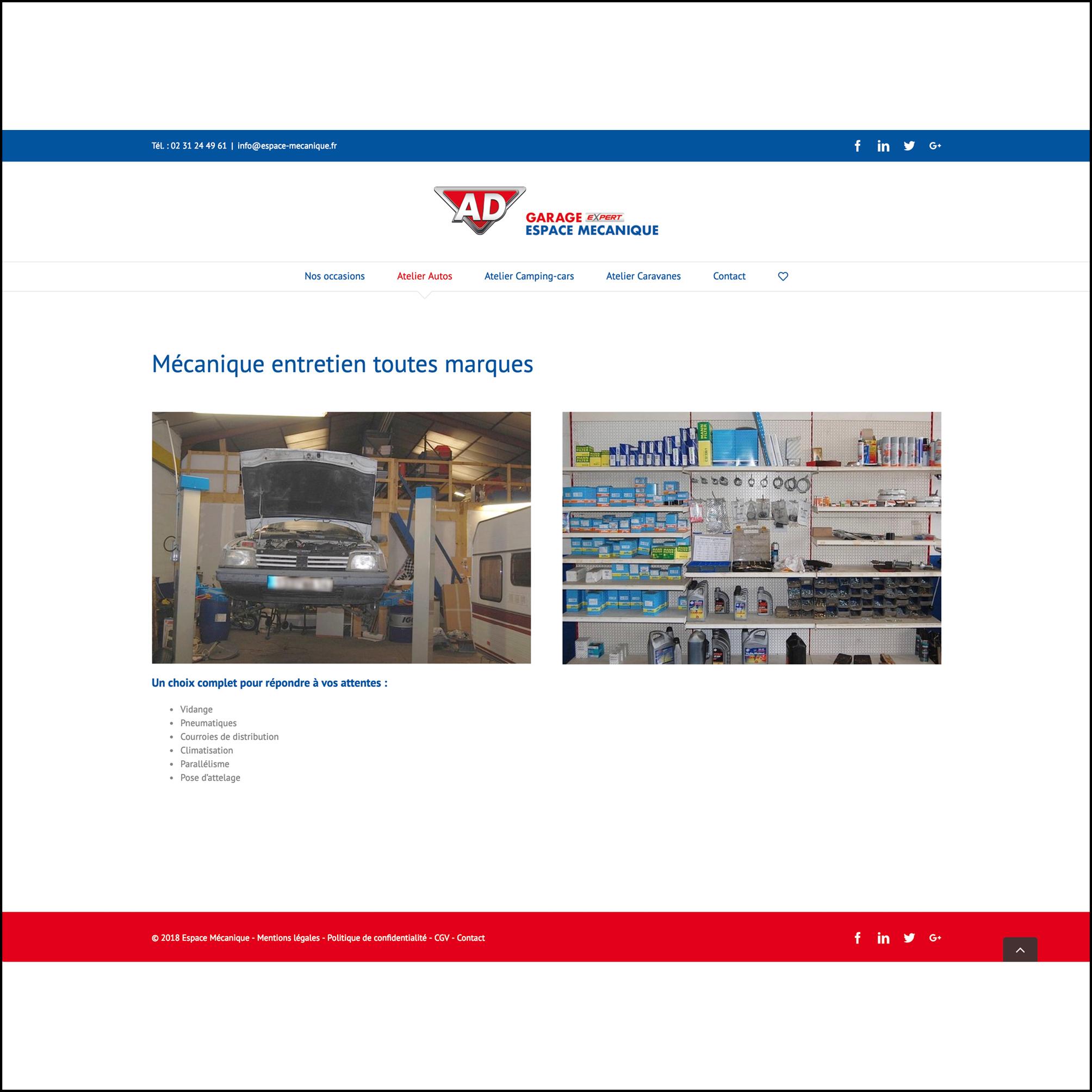 Espace Mécanique - Site Web