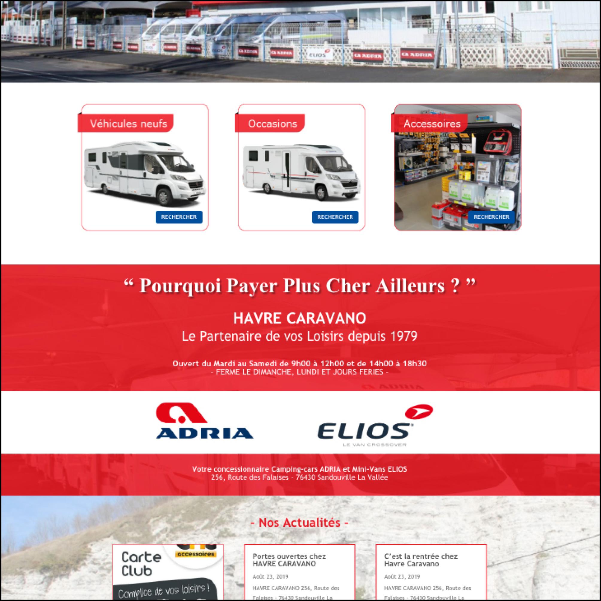 Havre Caravano - Site Web