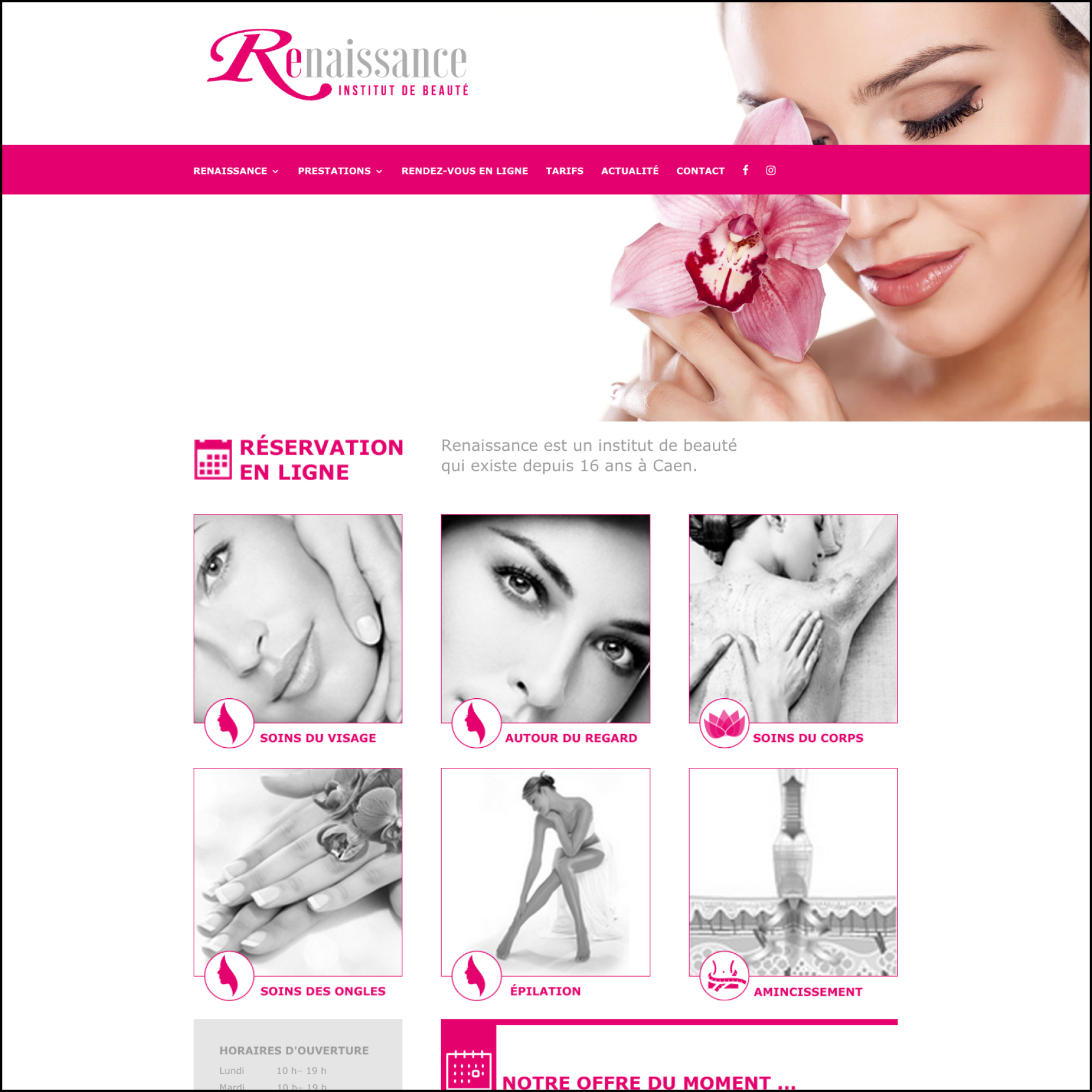 Renaissance Institut - Site Web